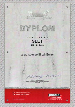 lincoln electric dyplom slet