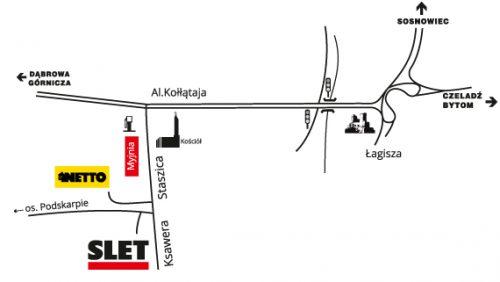 mapa dojazdu do slet
